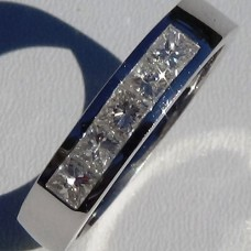 Channel Set 0.77 cw. t.w. Diamond Eternity Ring in 18k White Gold