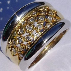 Diamond Pave Ring in 18k Two-Tone Gold