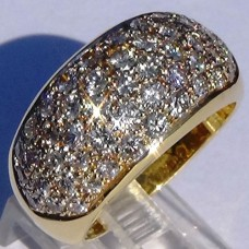 1.6 cw.t.w. Diamond Pave Ring in 18k Yellow Gold