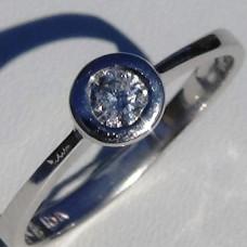 0.16 ctw Bezel Set Diamond Promise Ring in 18k White Gold